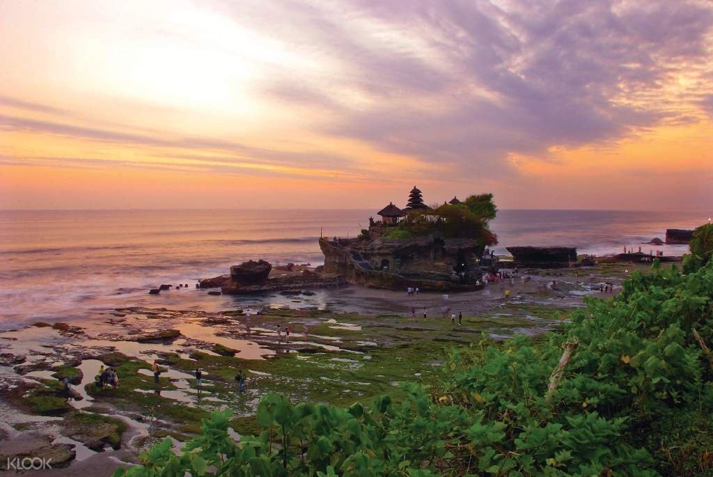 view of Tanah Lot sunset